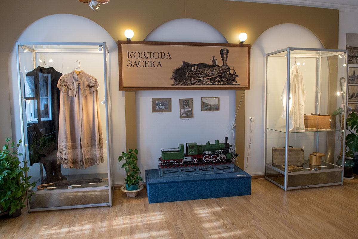 На станции Козлова Засека выделено помещение для размещения музейной экспозиции Железная дорога Льва Толстого.