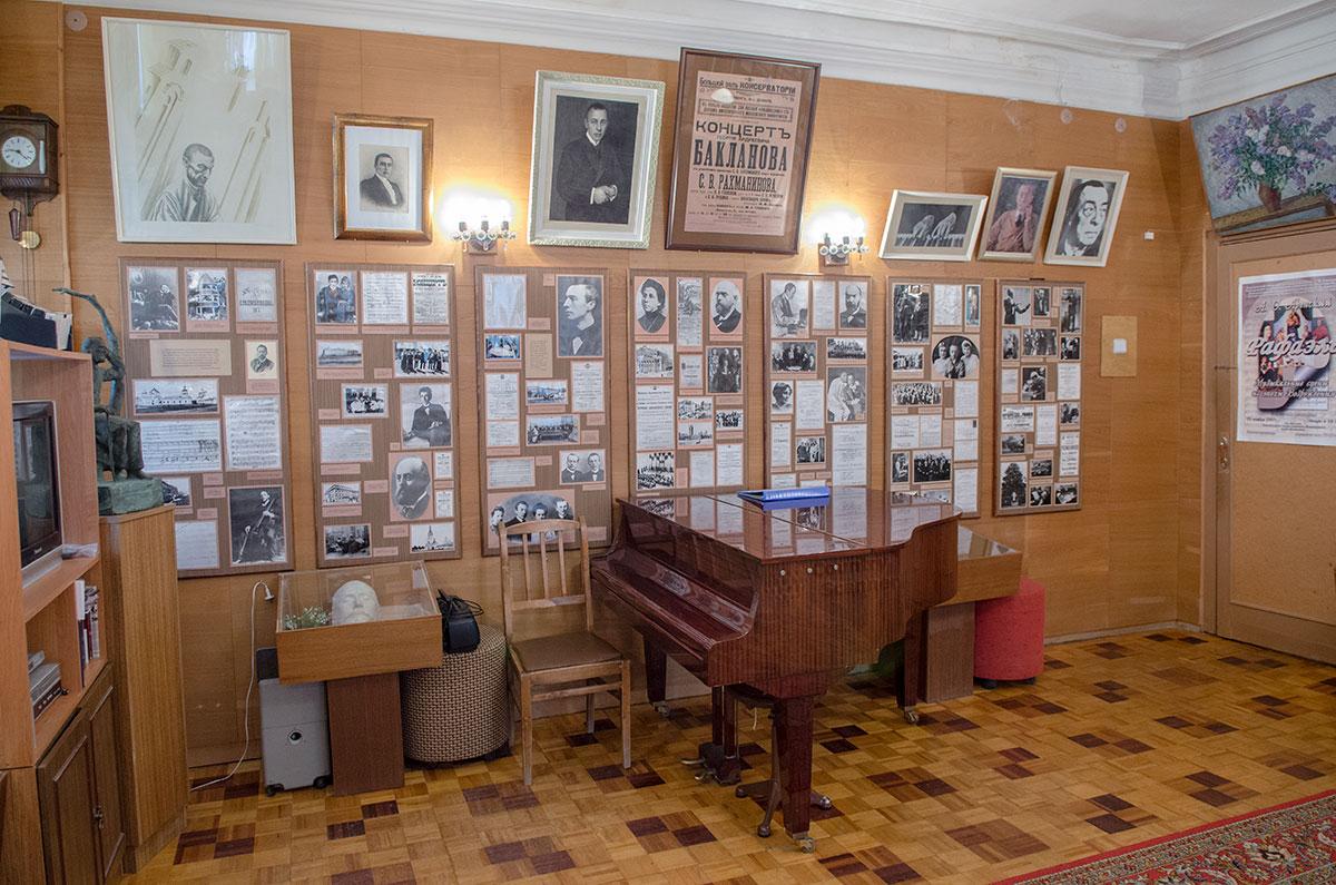 Особенностью музей Аренского, Лядова и Рахманинова является явное преобладание документов и фото над предметами и вещами.