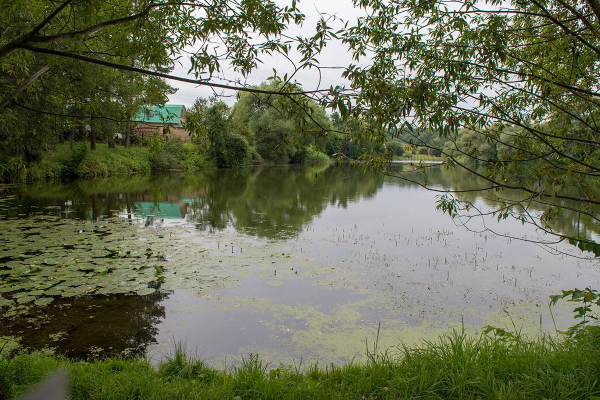 Большой пруд, расположенный слева от входной группы в усадьбу Ясная Поляна, традиционно использовало не только семейство писателя, а и окрестные крестьяне.
