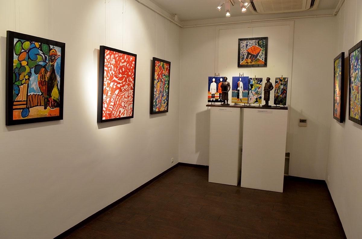 Музей-мастерская Зураба Церетели группирует живописные произведения хозяина согласно его личных предпочтений и прямых указаний.