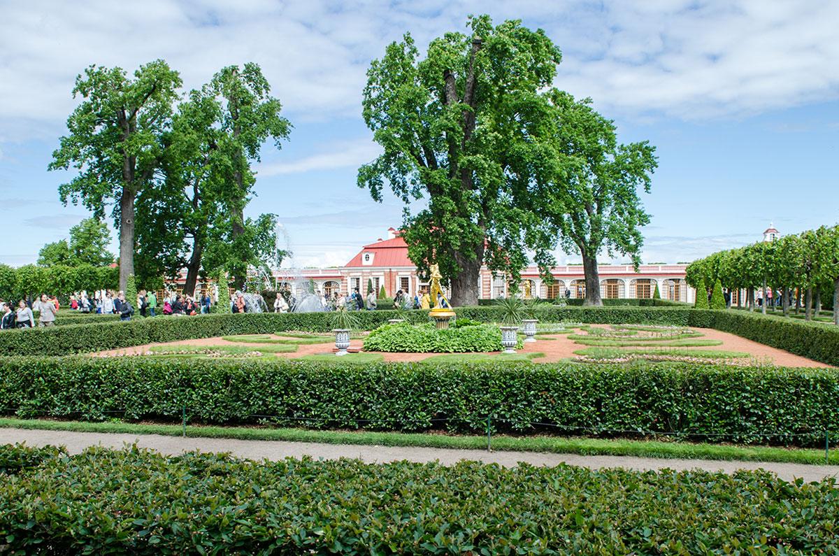 С южной стороны дворец Монтлезир граничит с одноименным регулярным садом французского стиля, как и название – Мое удовольствие.