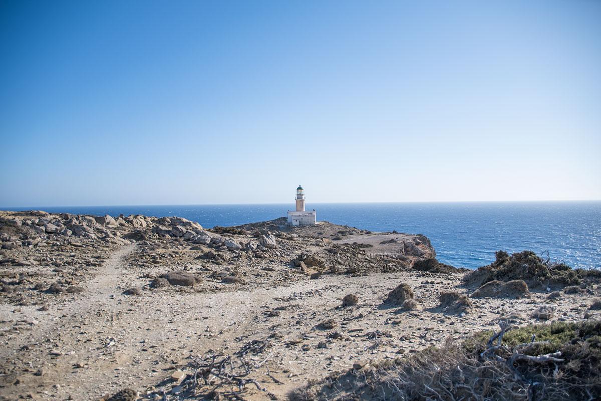 Старинный, построенный еще в позапрошлом веке маяк Прасониси до сих пор обслуживает судоходство в районе южной оконечности Родоса.