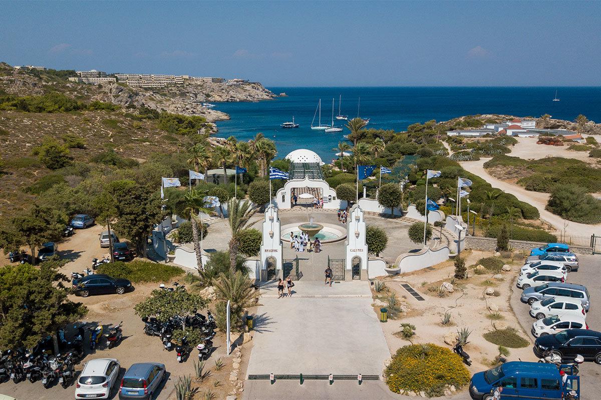 Финальная фотография курорта Источники Каллифеи, выполненная камерой квадрокоптера, изображает Источники Каллифеи во всей красоте.