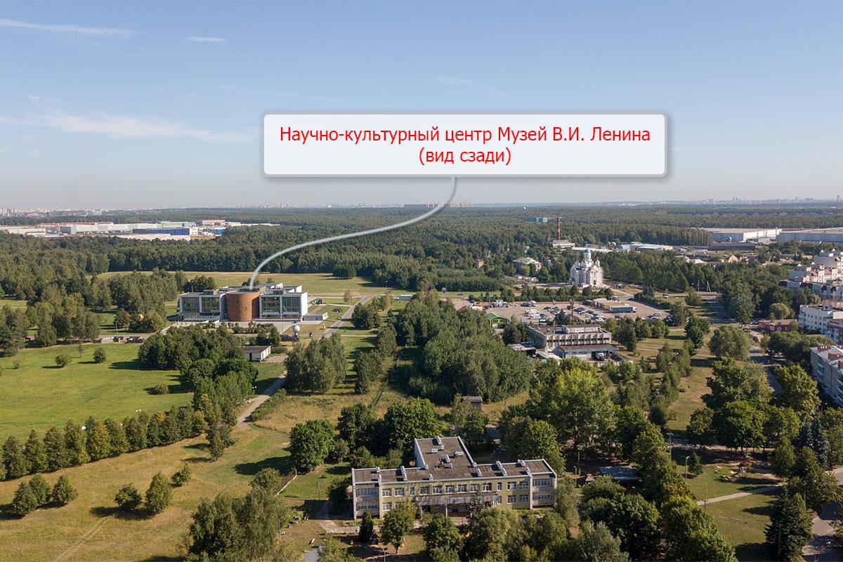 Рассмотреть музей Ленина с оборотной стороны предлагается на высотной фотографии, выполненной нашим летающим помощником.