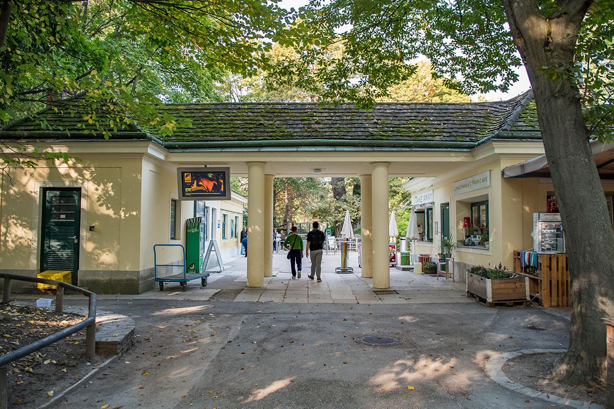 Проходить в зоопарк Шенбрунна приходится мимо многочисленных торговых заведений, обосновавшихся здесь всюду, даже в исторических постройках.