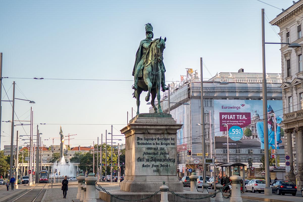 Инициатива установить в Вене памятник Карлу Шварценбергу исходила лично от императора Франца Иосифа, он же контролировал возведение.
