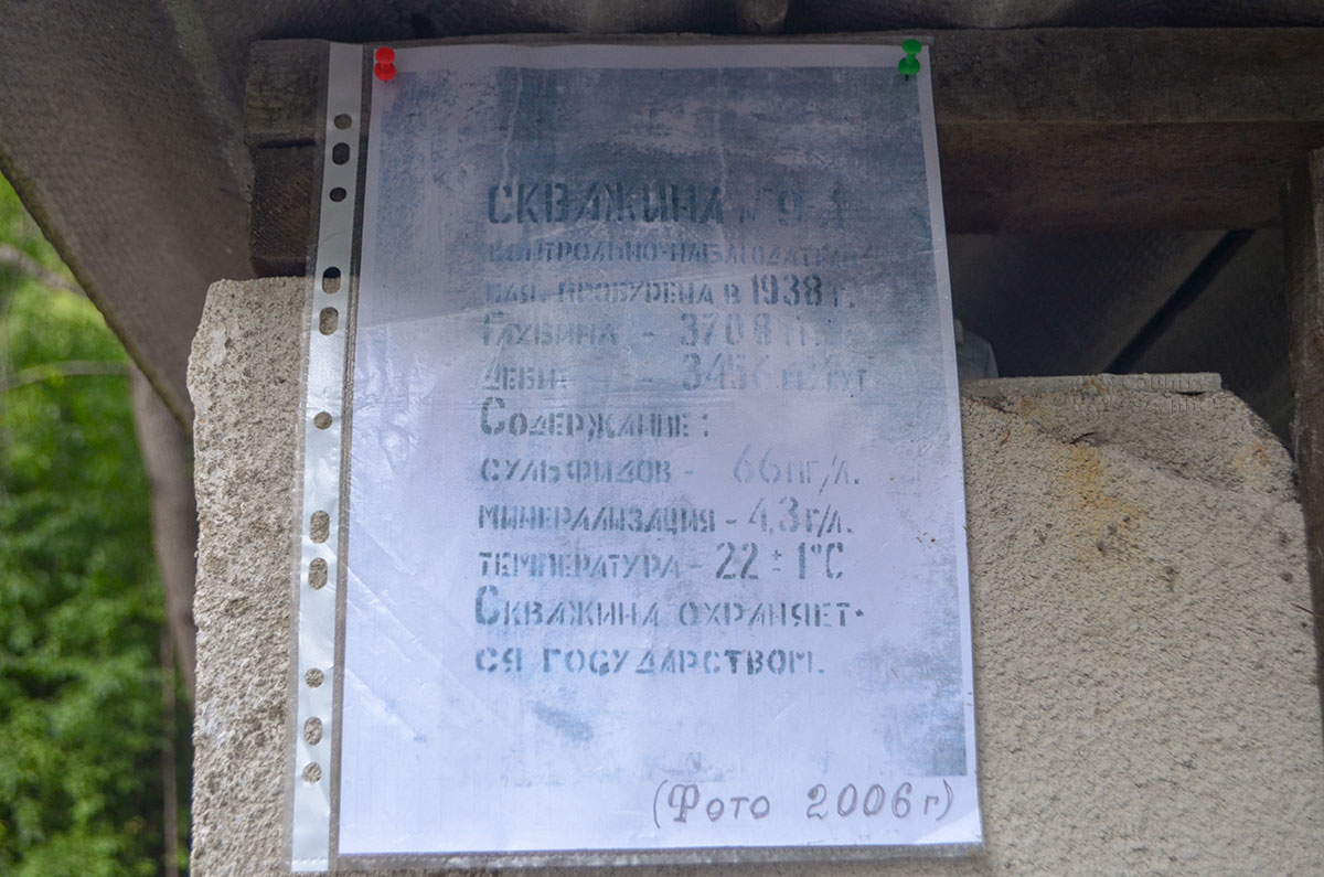 Файл с информацией о наблюдательной скважине Агурских сероводородных источников вывесил какой-то неизвестный, использовав старую фотографию.