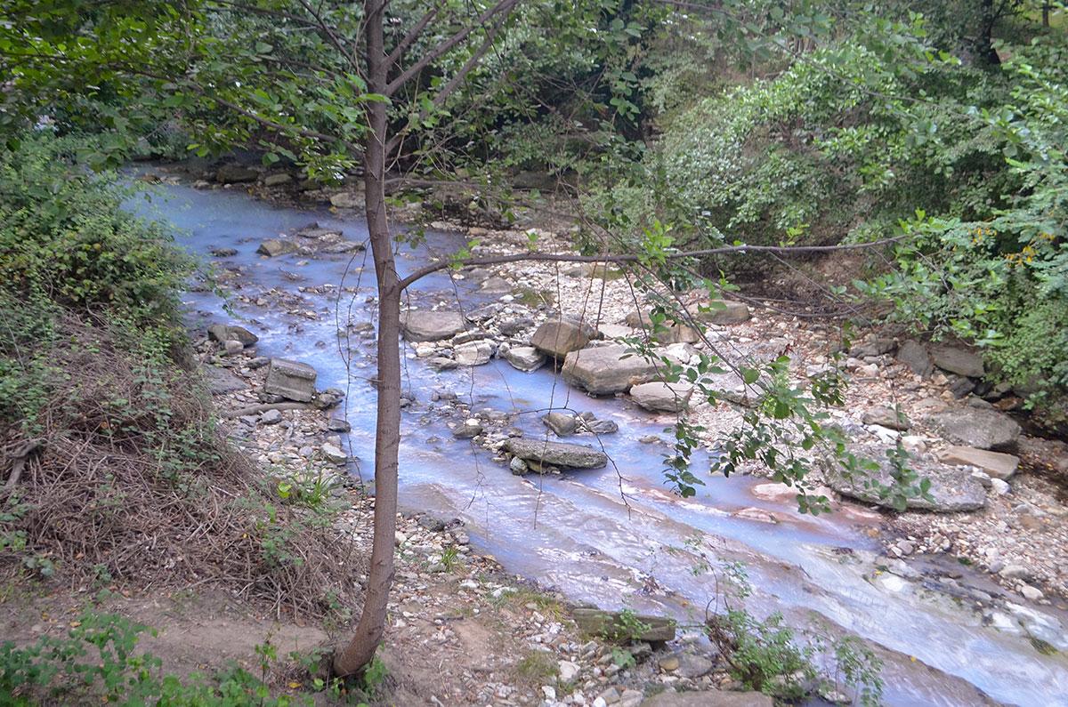 Именно Агурские сероводородные источники окрашивают речной поток в белесый цвет, это последствия смешения вод различного состава.