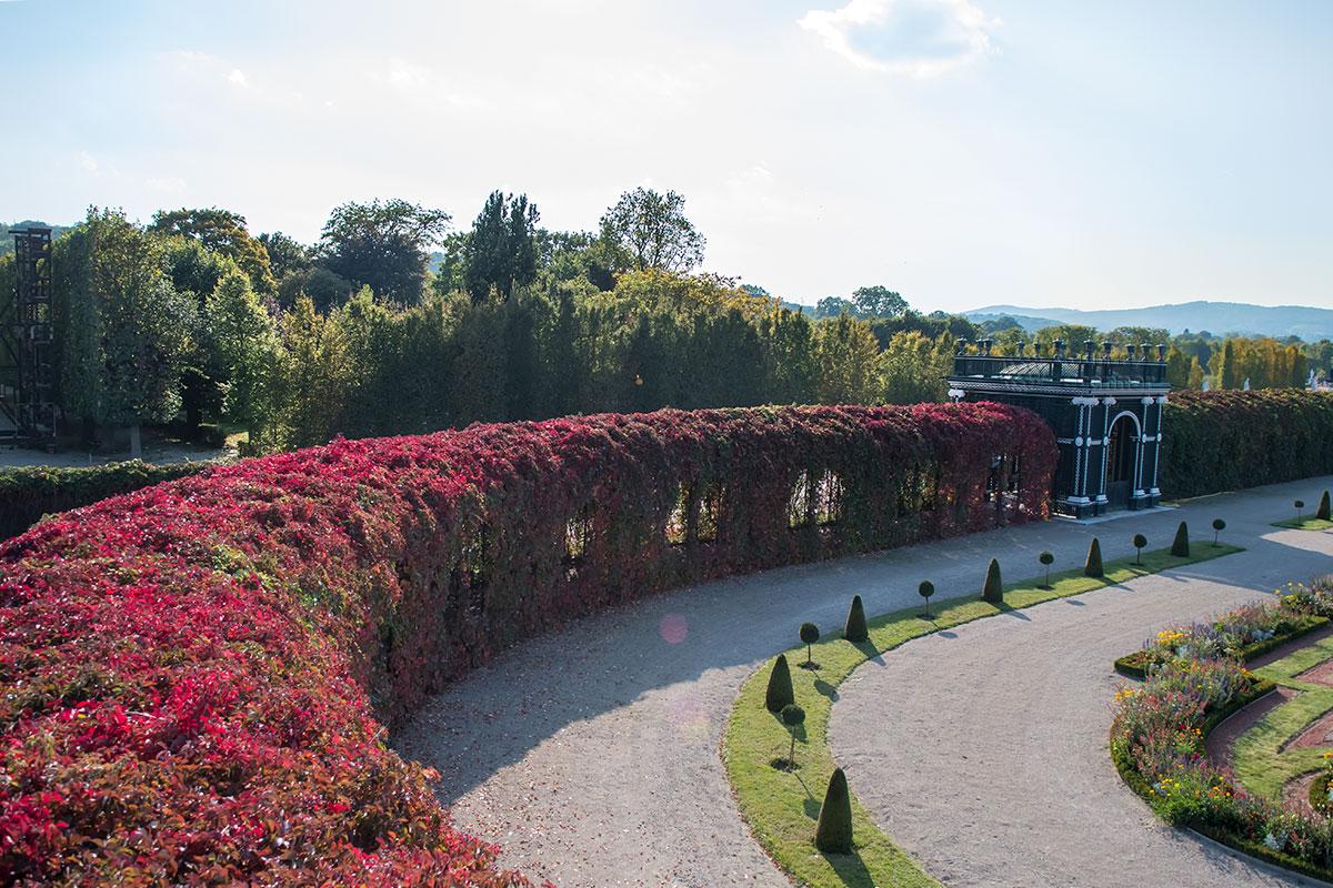 Вид со смотровой площадки необычного павильона в Кронпринценгартен наиболее живописен и представителен, ведь в высоты все видится более четко.