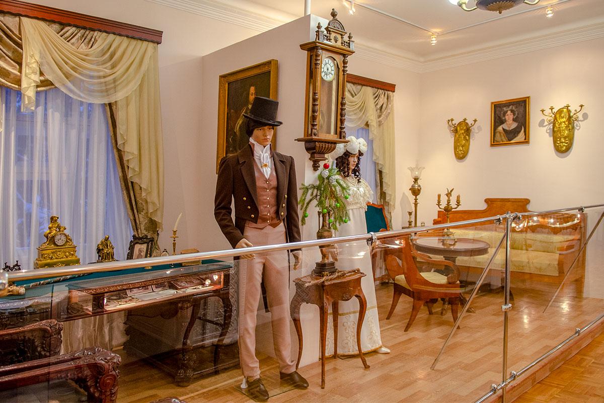Музей Ульянова демонстрирует разделы экспозиции, посвященные различным сословиям городского общества, сложившимся ко второй половине XIX века.