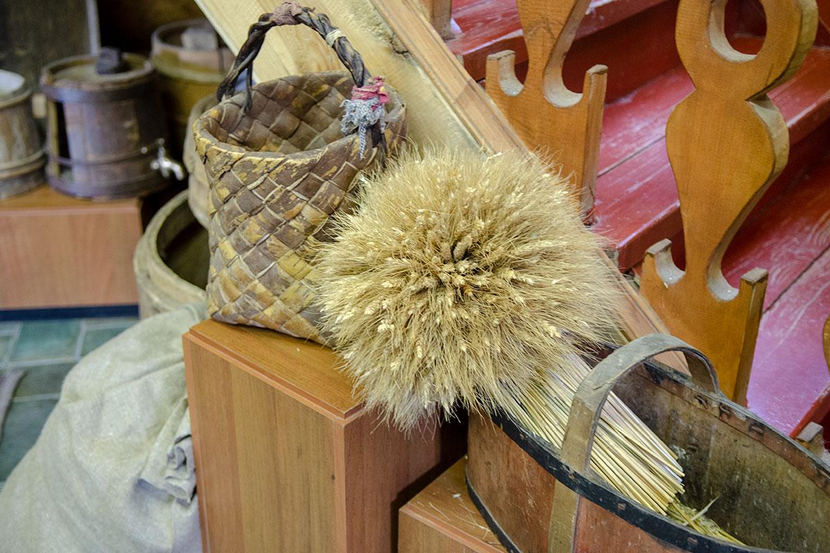 Только небольшой снопик пшеничных колосьев демонстрирует Музей хлеба в Измайловском Кремле из множества зерновых растений.
