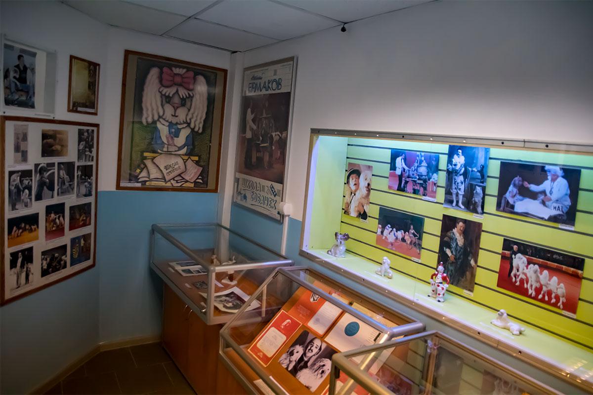 Достаточно оживленной и информативной надо признать экспозицию Музея Собаки, которая посвящена деятельности четвероногих артистов и их наставников.