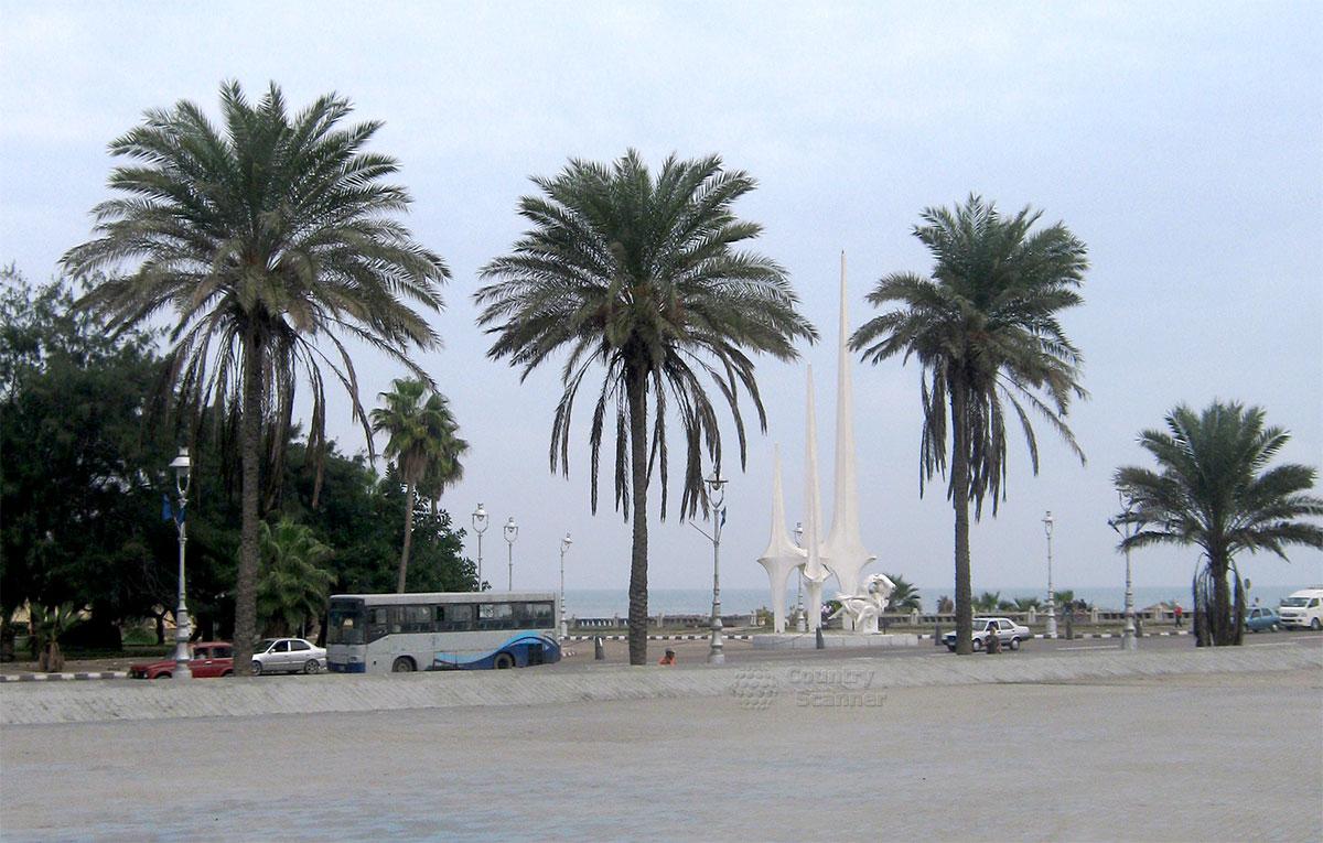 Пальмы около Александрийской библиотеки