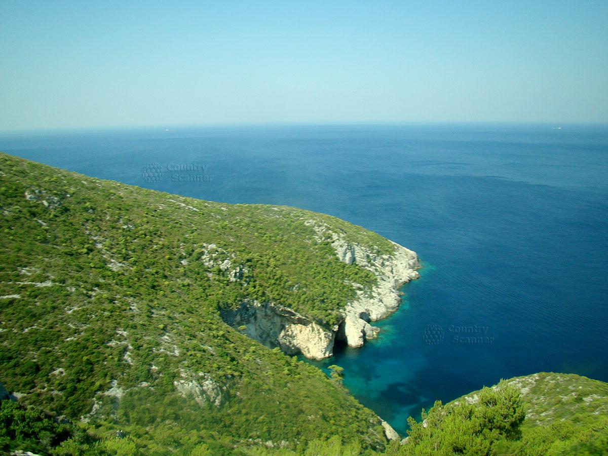 Голубые пещеры. Вид сверху