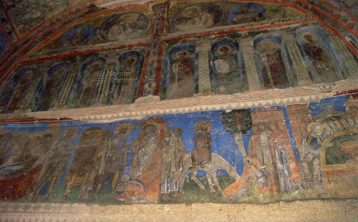Фрески подземных храмов пещер Каппадокии