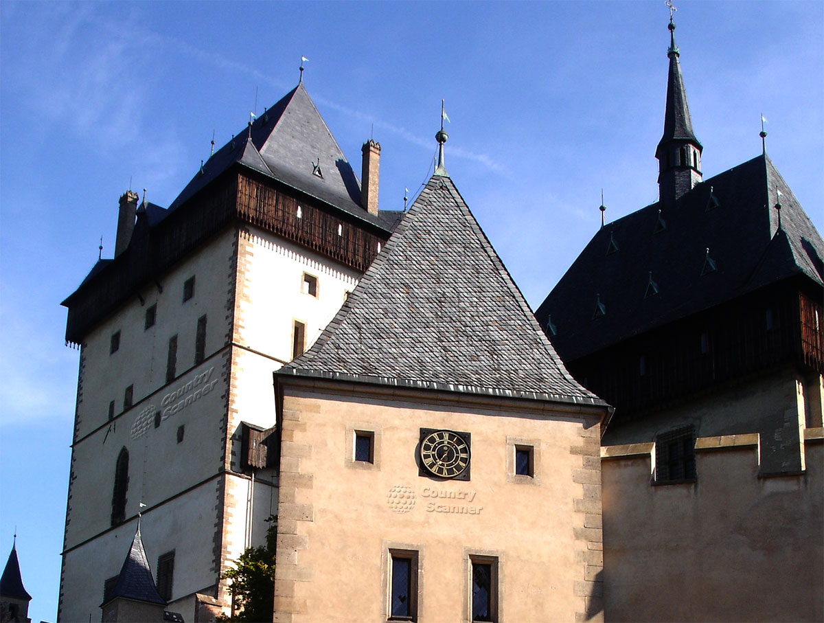 Карлштейн - замок в готическом стиле в Чехии.