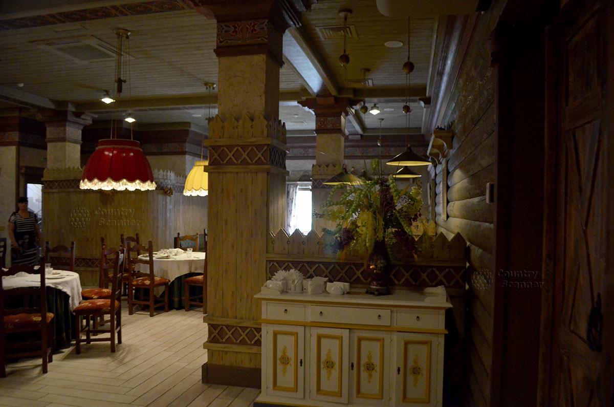 Один из ресторанов культурно-этнографического центра Моя Россия