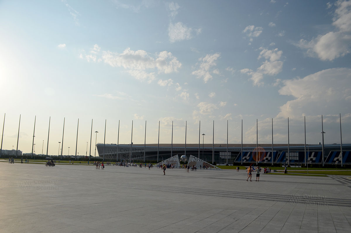 Центральная площадь Олимпийского парка в Сочи