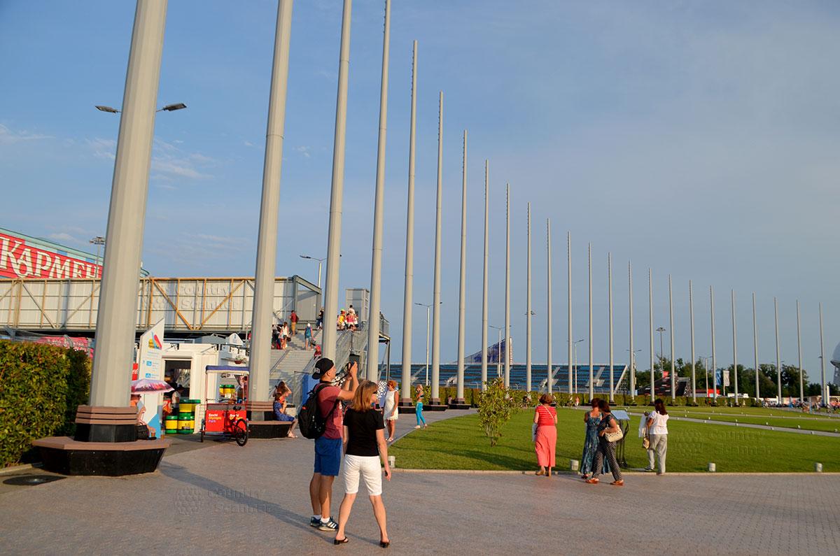 Олимпийский парк Сочи. Переход через трассу формулы 1.