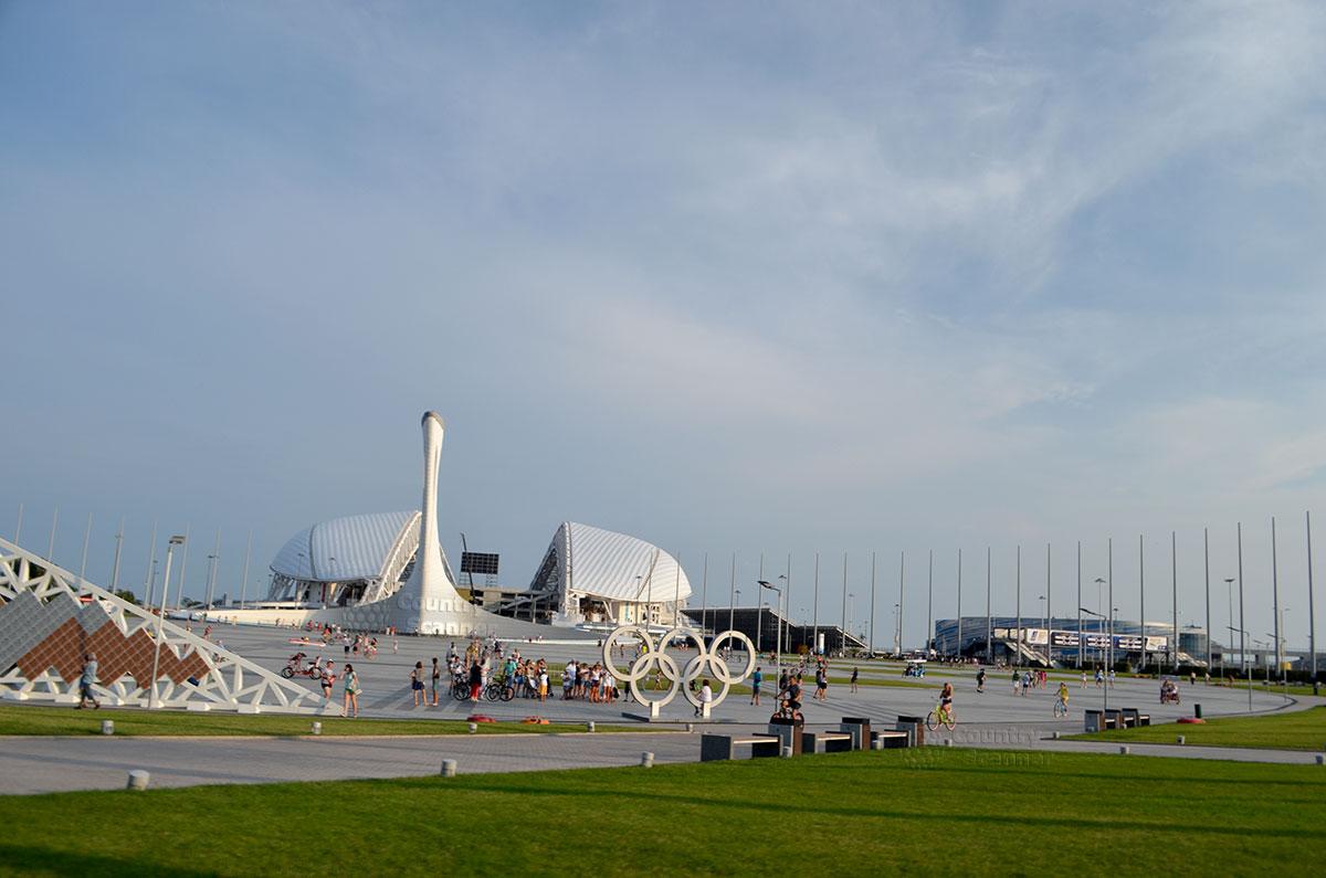 Олимпийский парк Сочи 4. Олимпийский кольца