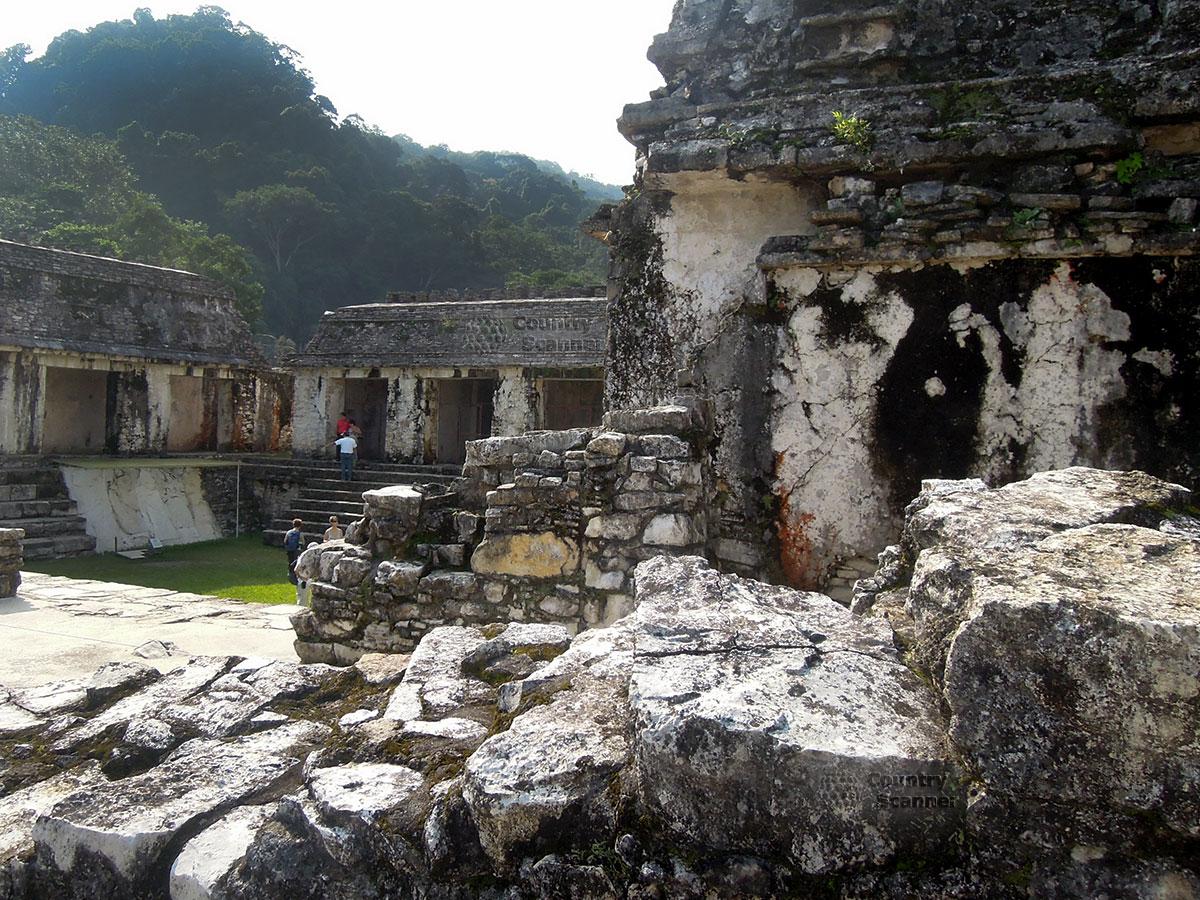 Руины Паленке в Мексике. Замшелые развалины