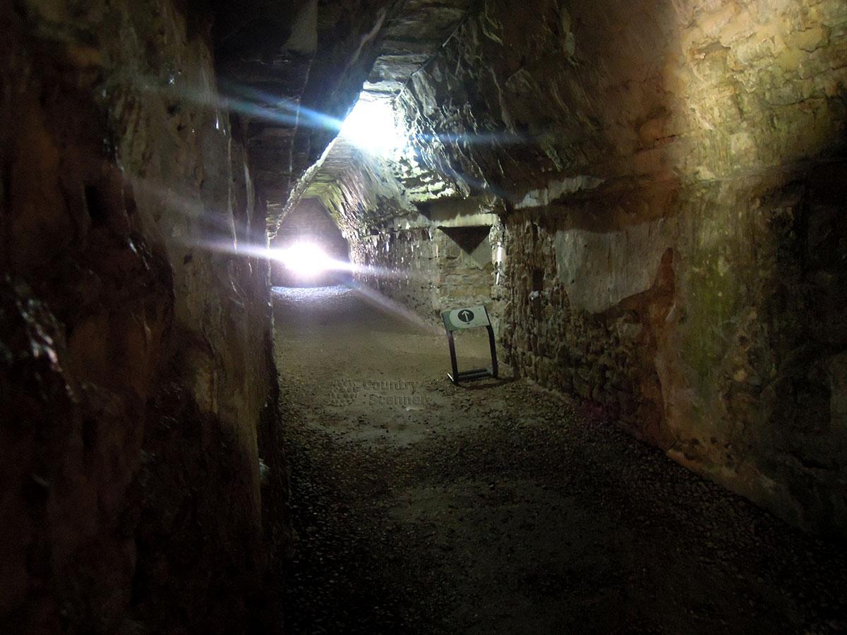 Руины Паленке в Мексике. Луч солнца в темноте