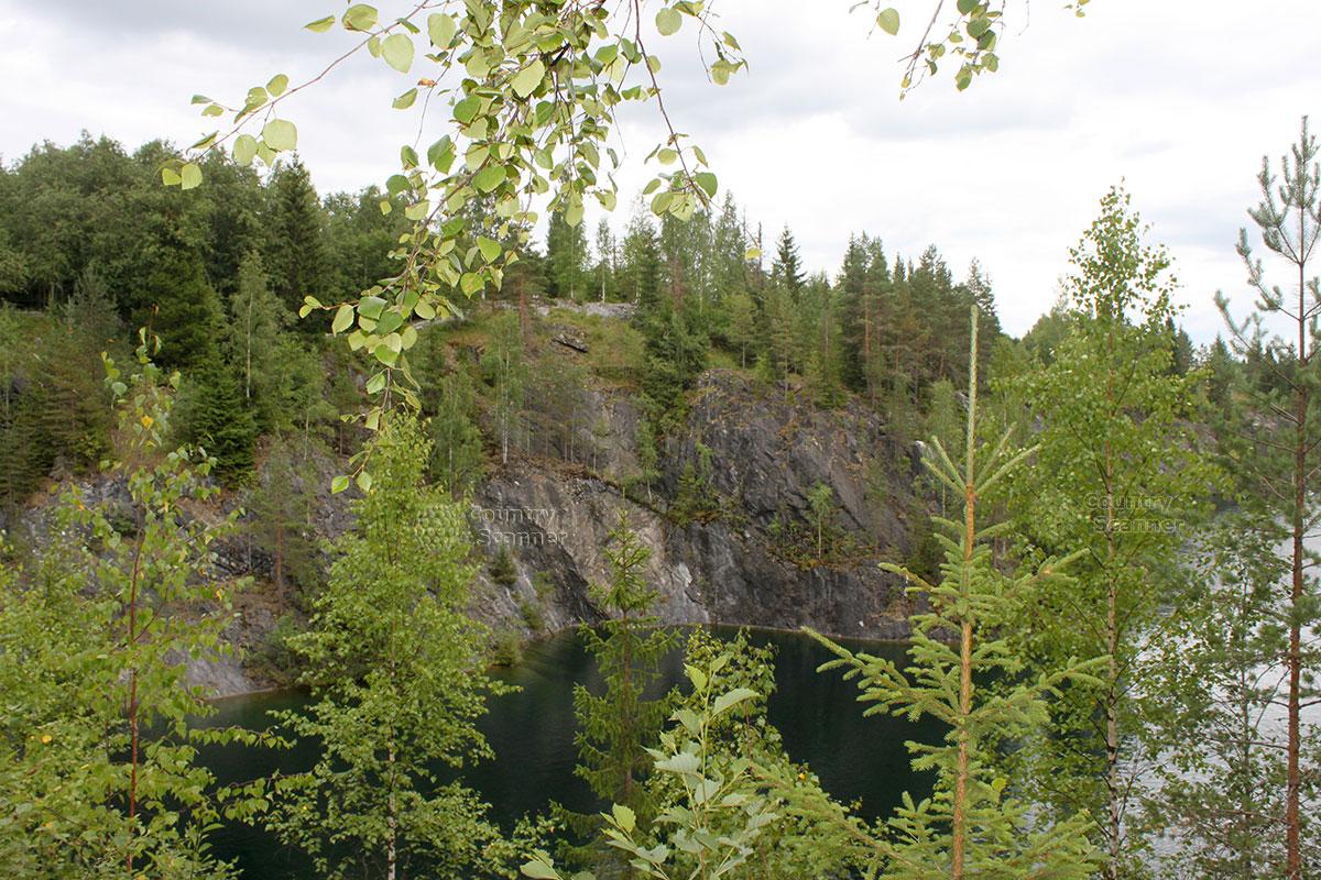 Горный парк Рускеала вид сверху
