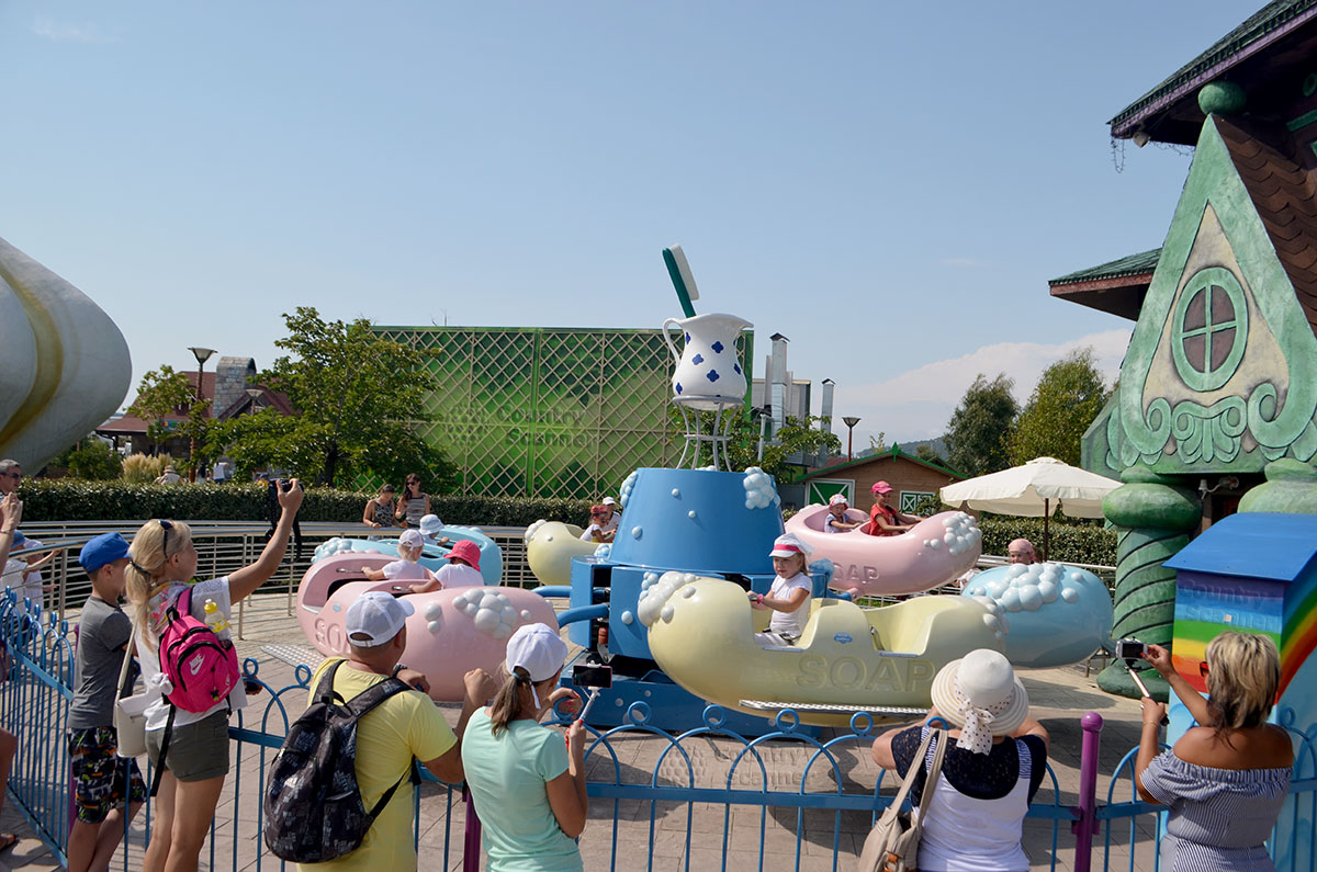 Сочи парк. Карусель для малышей.