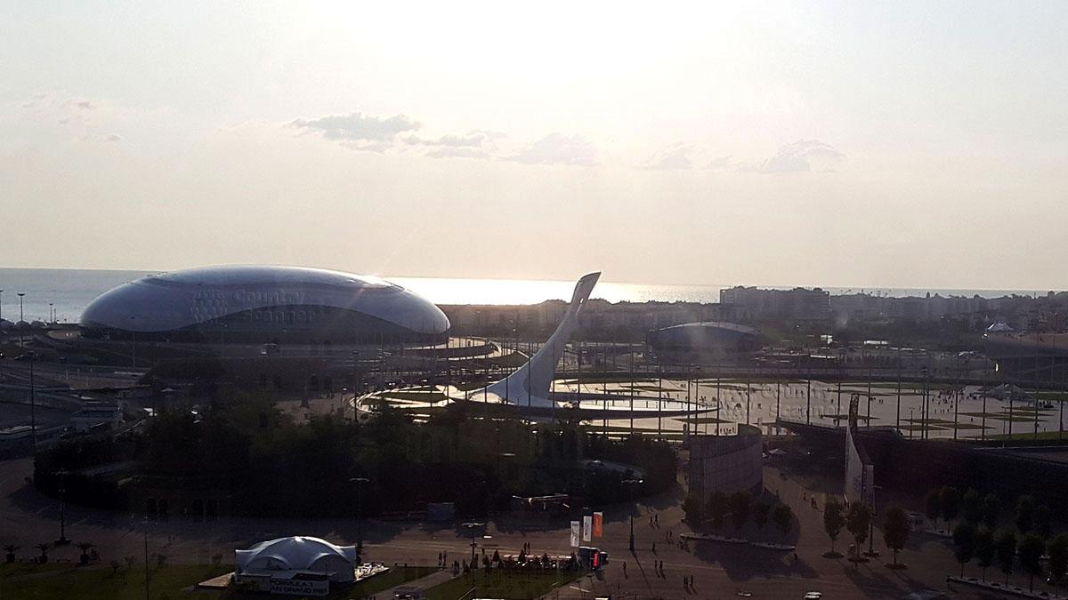 Сочи парк. Вид на олимпийский парк