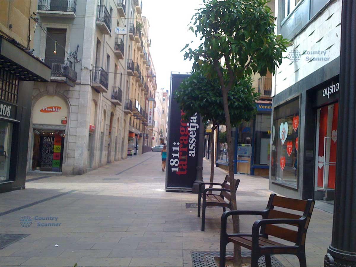 Улица магазинов в Таррагоне