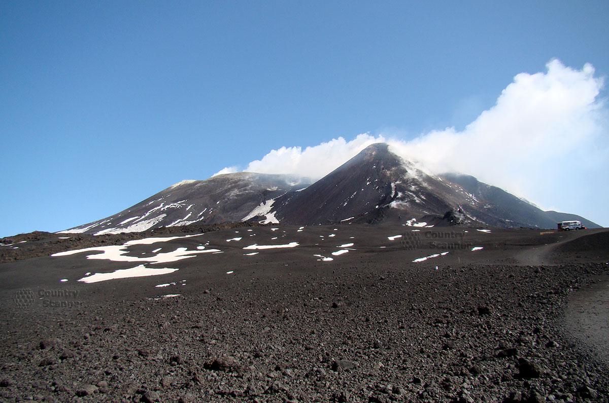 Вершина вулкана Этна.